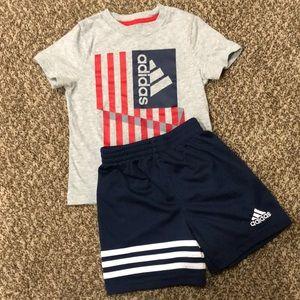 Adidas American Flag Shorts Set